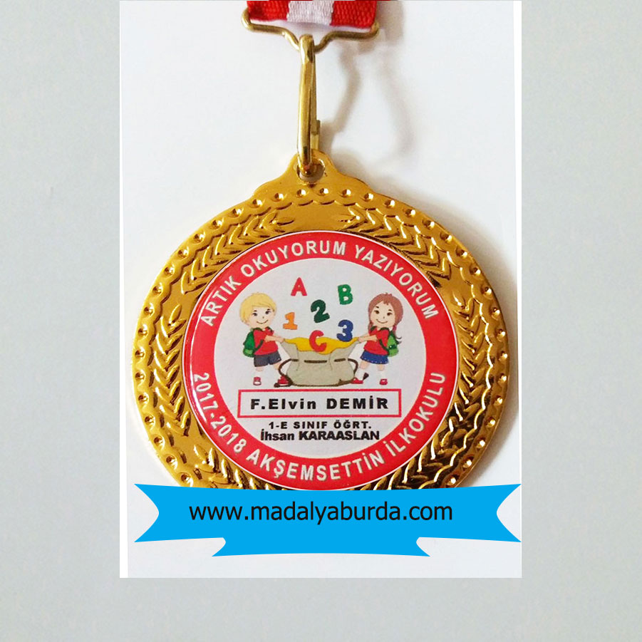 Artık okuyorum yazıyorum madalyası