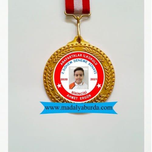 resimli okul madalyası